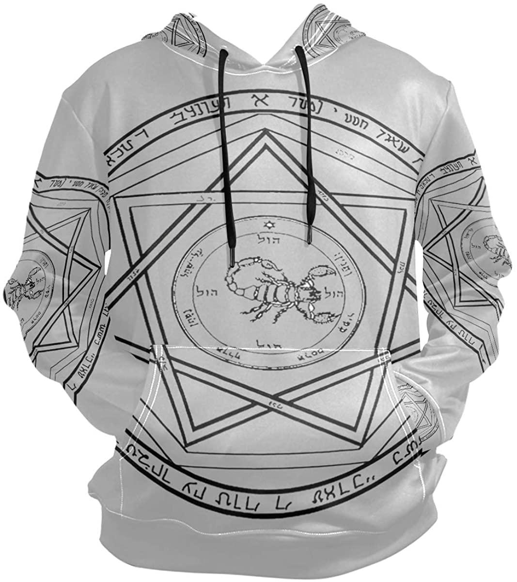 SLHFPX 3D Hoodie Supernatural Demon Devil's Pullover Hooded Sweatshirts Long Sleeve Shirt