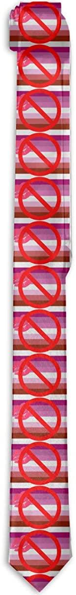 Lesbian Flag For Everyone Mens & Boys Tie Fashion Necktie Classic Slim Neck Ties