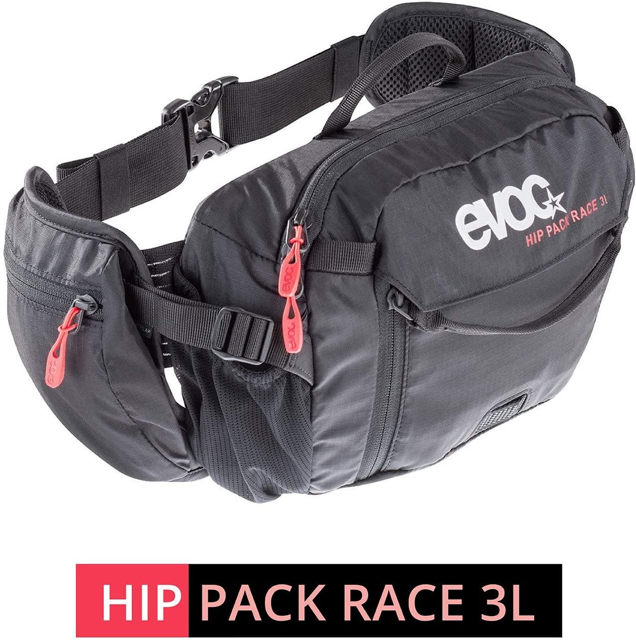 Evoc Hip Pack Race 3L with 1.5L Bladder Black Black