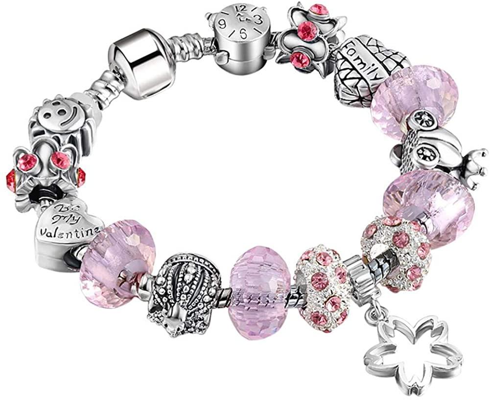 Beaded Bracelet Women's Bracelet Simple Jewelry Beaded Jewelry Christmas Beaded Bracelet Beaded Alloy Bracelet Suitable for Girls