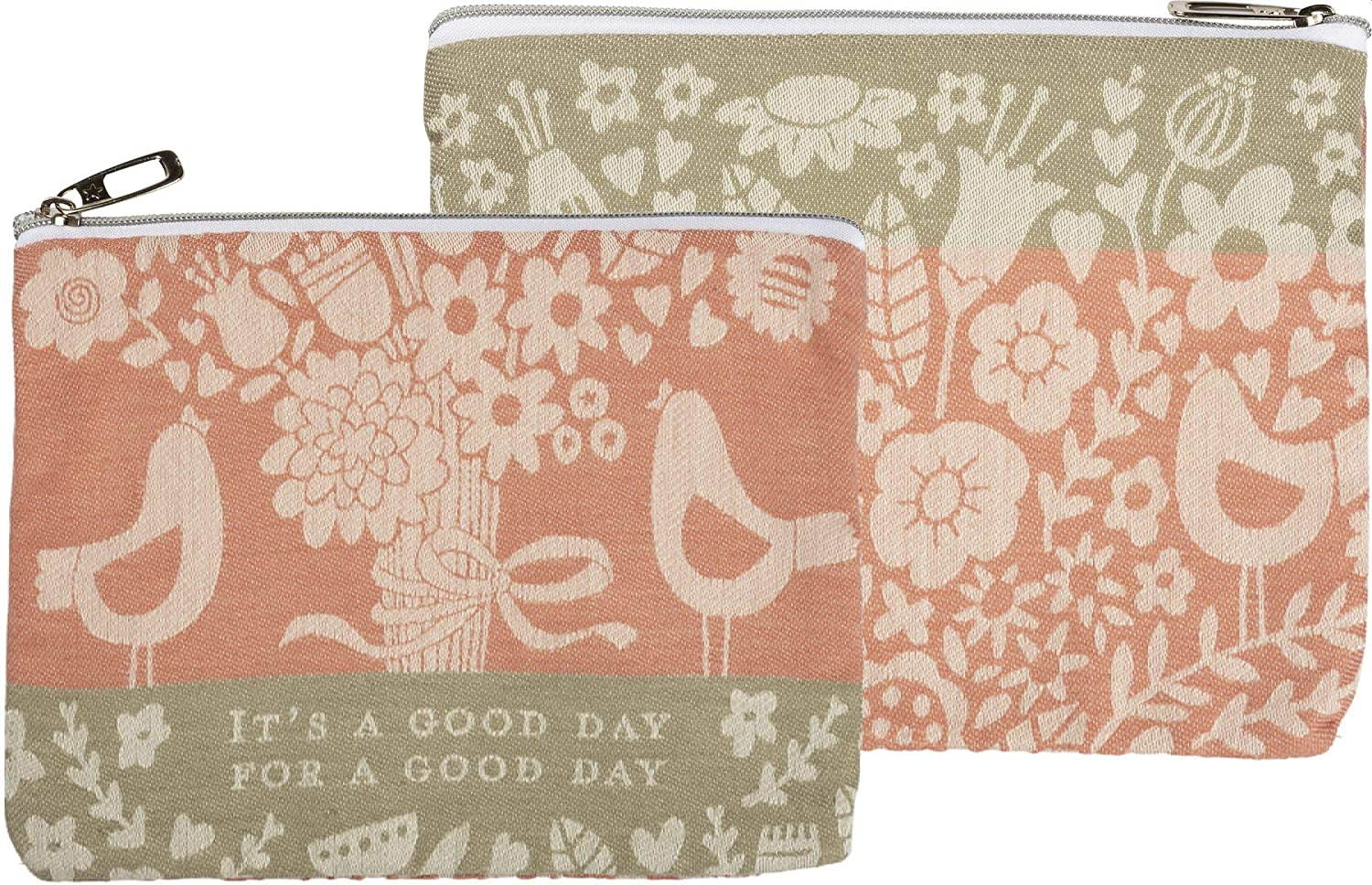 Primitives by Kathy Women's Good Day Zipper Pouch, Multi, 9.50 inches Length