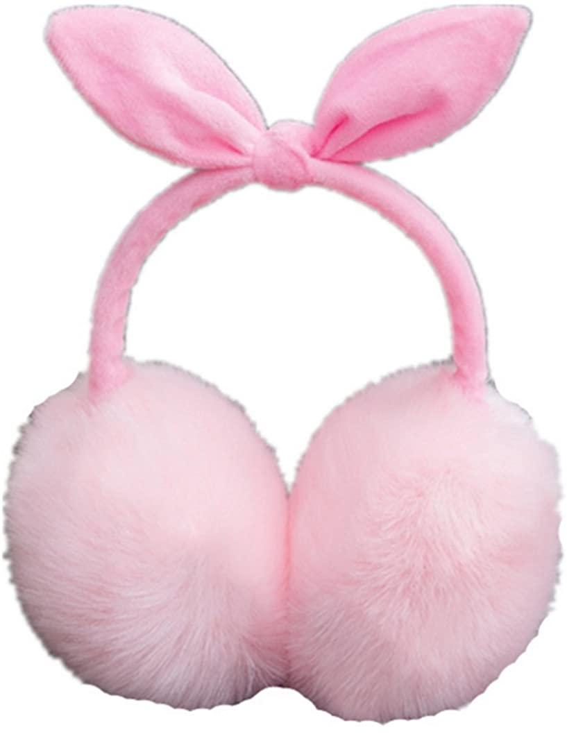 Kids Girls Winter Warm Faux Fur Plush Ear Warmers Earmuffs W/Fleece Bow,Simplicity Soft Women's Winter Ear Cover