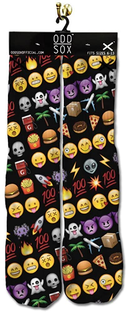 Odd Sox Men's Emoji Socks Black