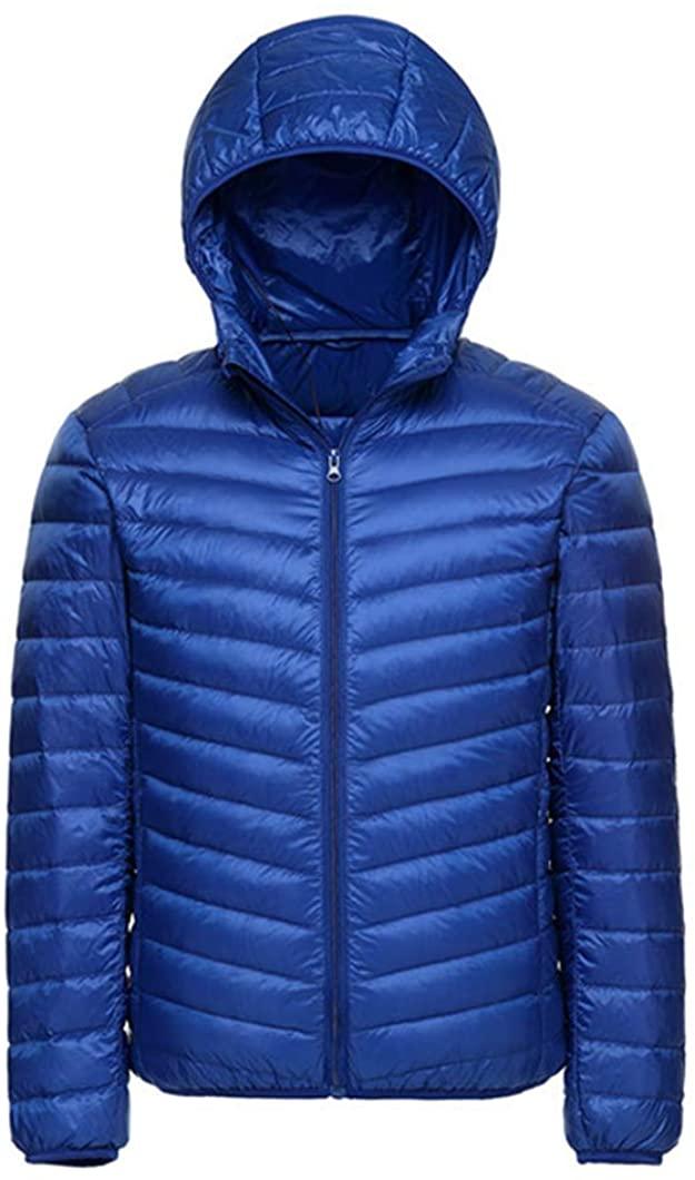 Duyang Men' Ultralight Water-Resistant Outdoor Jacket Casual Hooded Down Puffer Jacket