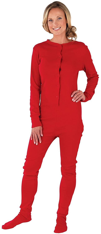 PajamaGram Drop Seat Pajamas Women - Butt Flap Pajamas Womens