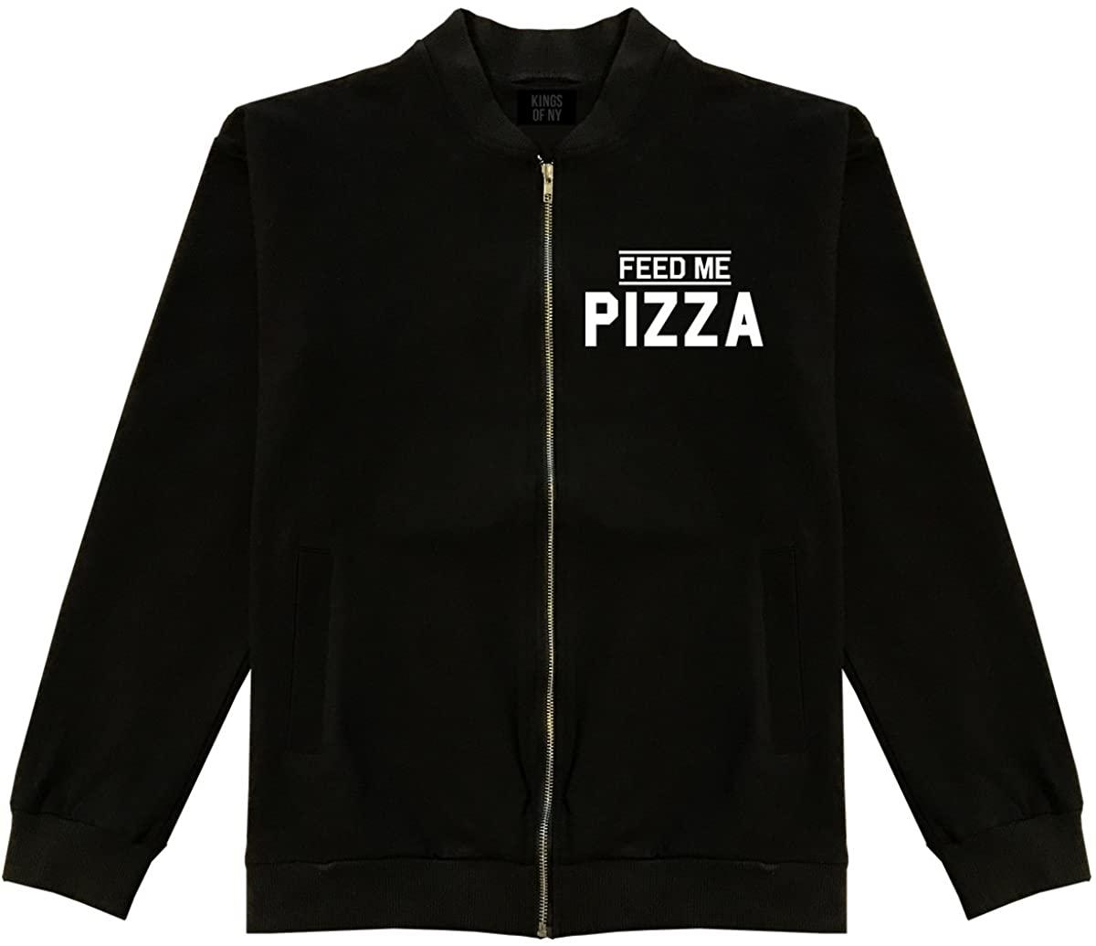 Kings Of NY Feed Me Pizza Mens Cotton Bomber Jacket