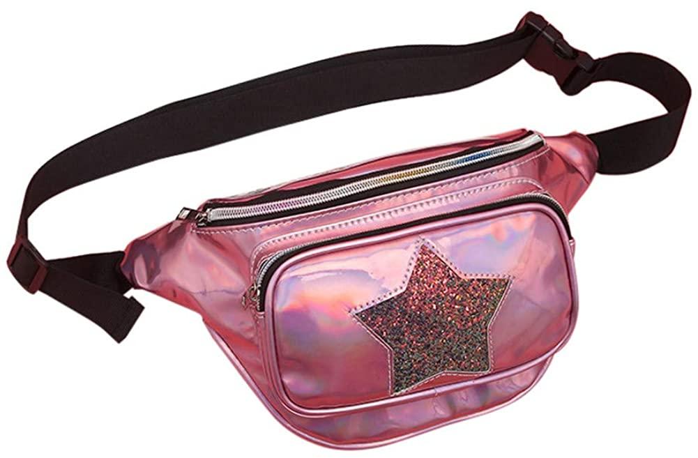 Aimeely Women Glitter Lightweight Travel Waist Bag Creative Portable Chest Bags