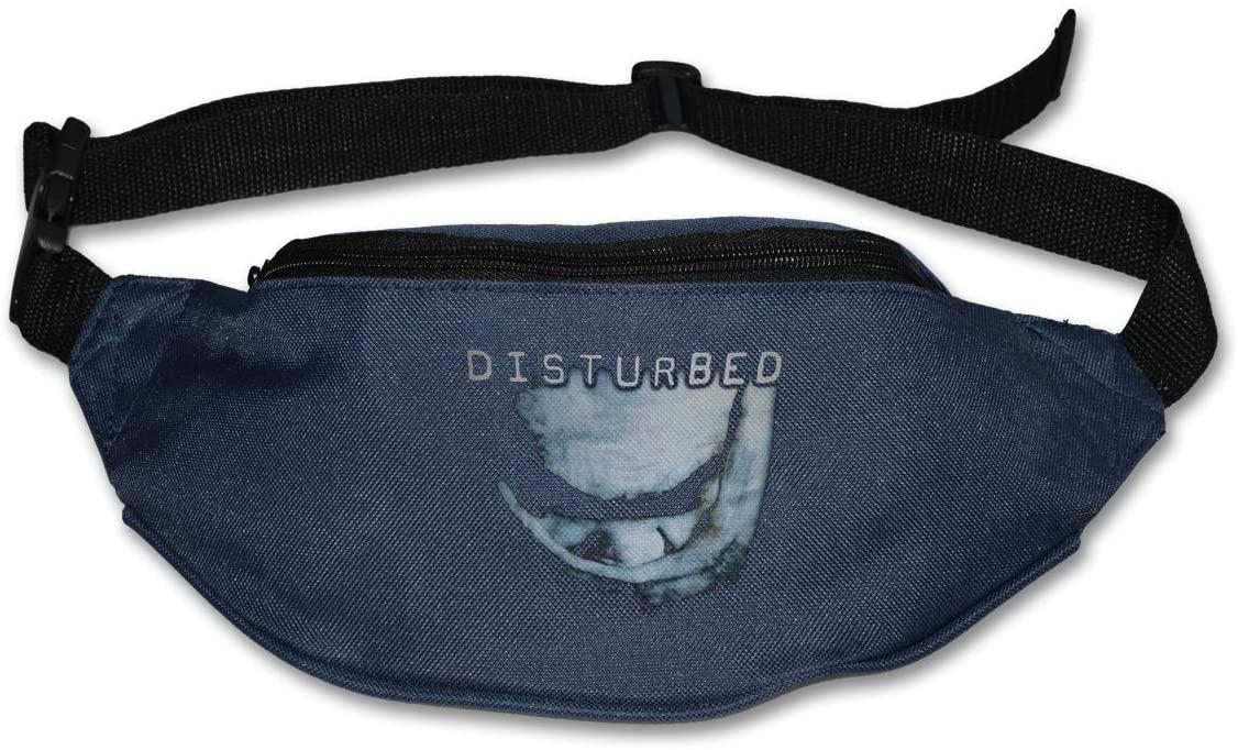 Ssxvjaioervrf Disturbed The Sickness Band Logo Running Belt Waist Pack Runners Belt Fanny Pack Navy