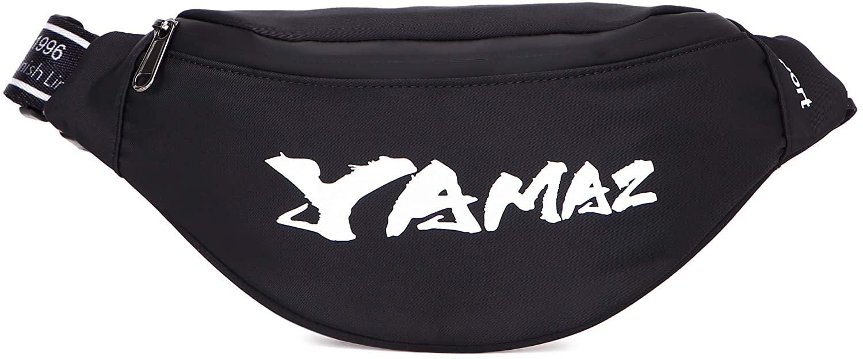 YAMAZ Women Men Hip Waist Fashion Bags Waterproof Zipper Adjustable Shoulder Straps Suitable for Outdoor Exercise Travel FitnessWaist Packs (black)