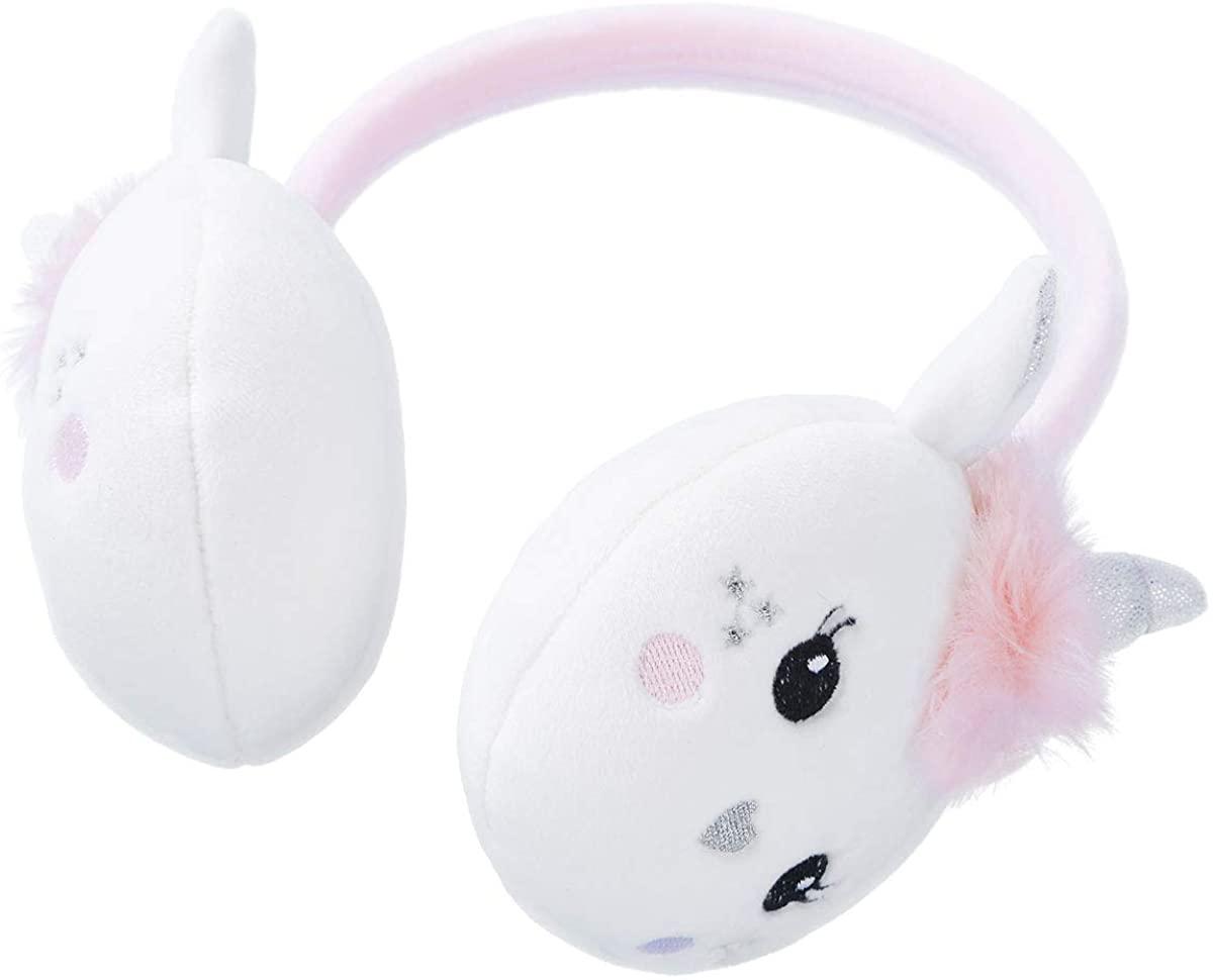 Freebily Kids Girls Cute Soft Winter Outdoor Sports Windproof Warm Earmuffs Adjustable Ear Warmers Earflap