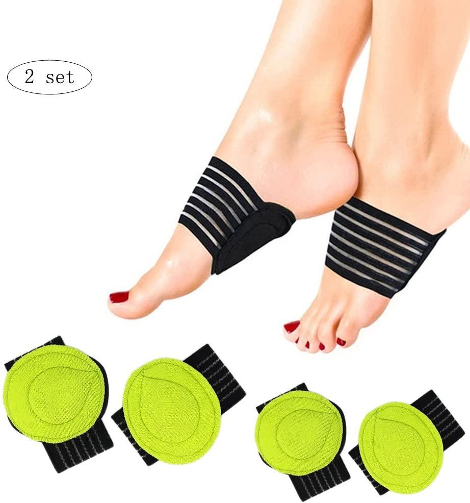 Ximimark 2 Pairs Foot Cushioned Arch Foot Support Decrease Plantar Fasciitis Pain Correction Night Foot Care Corrector Thumb