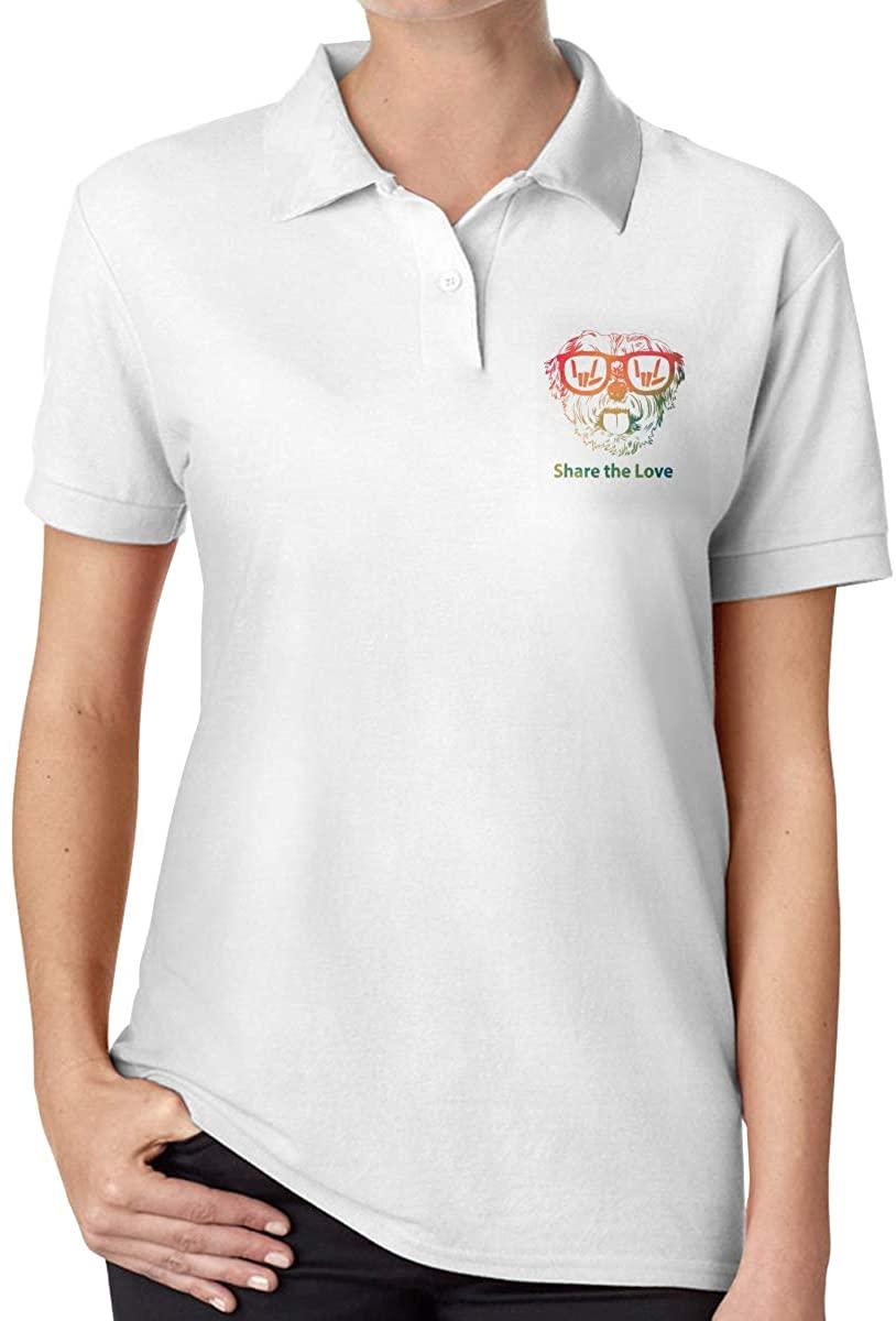 Share The Love Women's Regular-Fit Cotton Polo Shirt