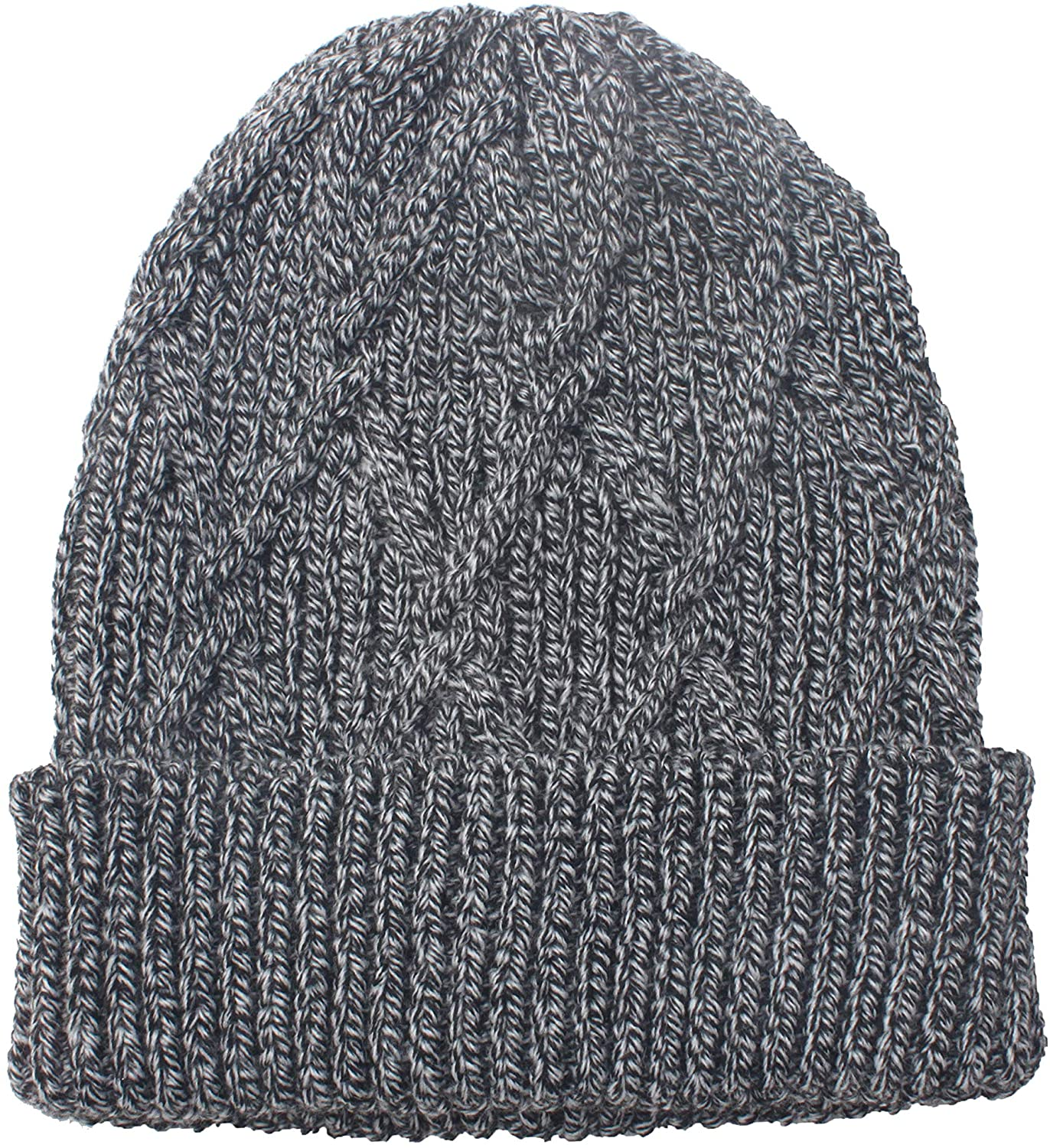 UNDER ZERO UO Men's Winter Navy Cable Knitted Beanie Hat