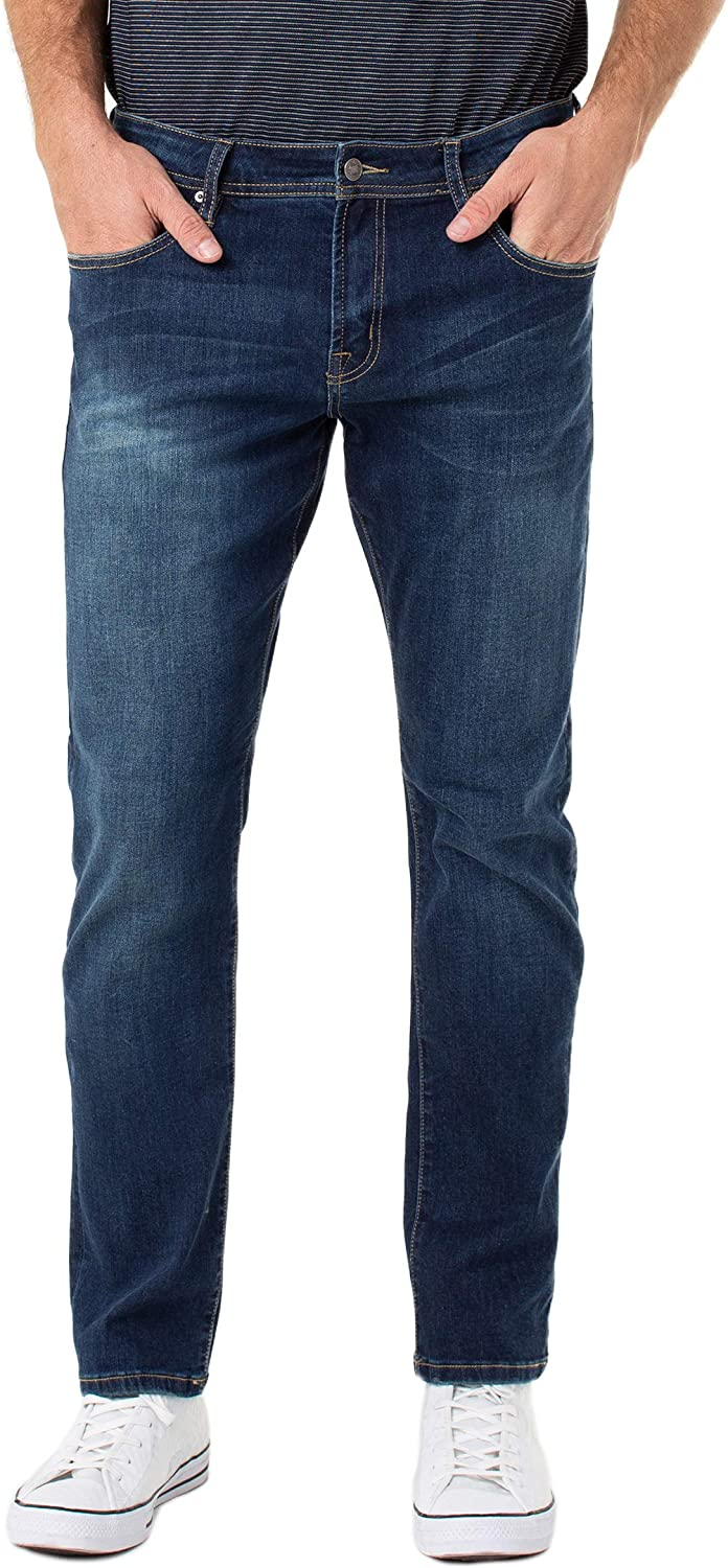 Liverpool Men's Kingston Modern Slim Straight with Coolmax Jeans