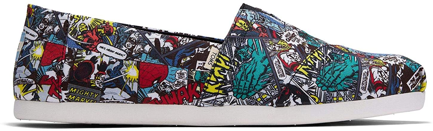 TOMS Men's Alpargatas Military Marvel Comic Print 12