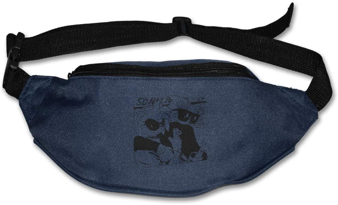 Ssxvjaioervrf Sonic The Hedgehog Running Belt Waist Pack Runners Belt Fanny Pack Navy
