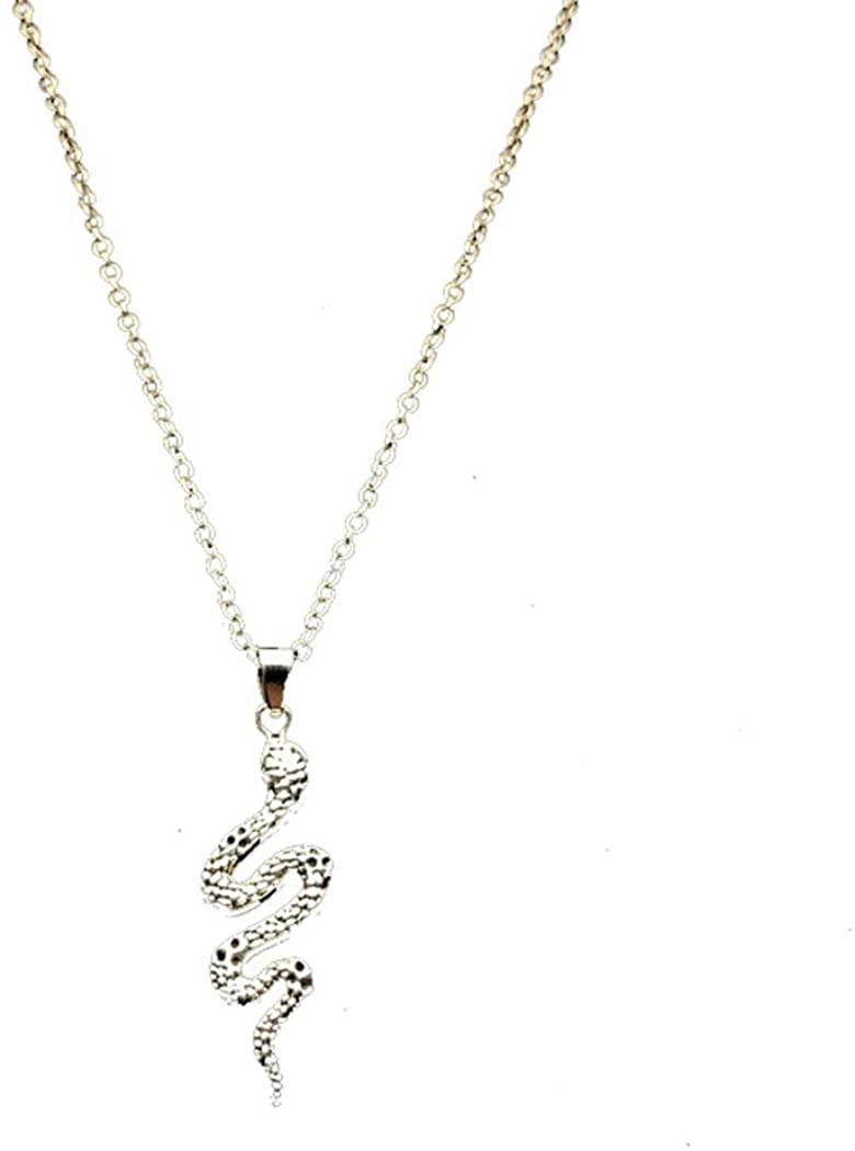 Vintage Cobra Animal Pendant Necklace Personality Punk Hip Hop Cobra Necklace for Men and Women