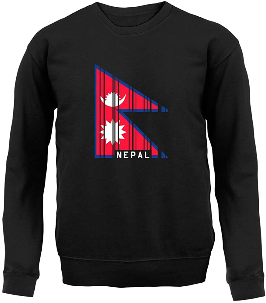 Dressdown Nepal Barcode Style Flag - Unisex Crewneck Sweater/Jumper