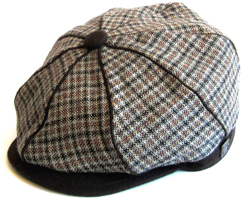 DASMARCA Mens Tweed Wool Bakerboy Newsboy Cap