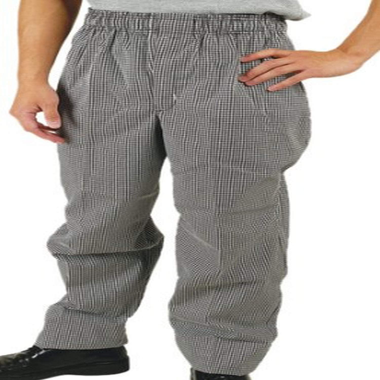 Phoenix Check Elastic Waist Chef's Pants, X-Large