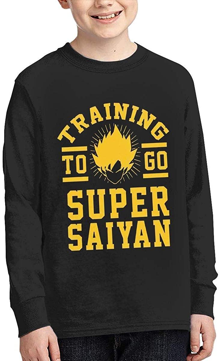 Youth Super Saiyan Sports Boy Or Girl Long Sleeve Shirt-Moisture Absorbing and Perspiration.