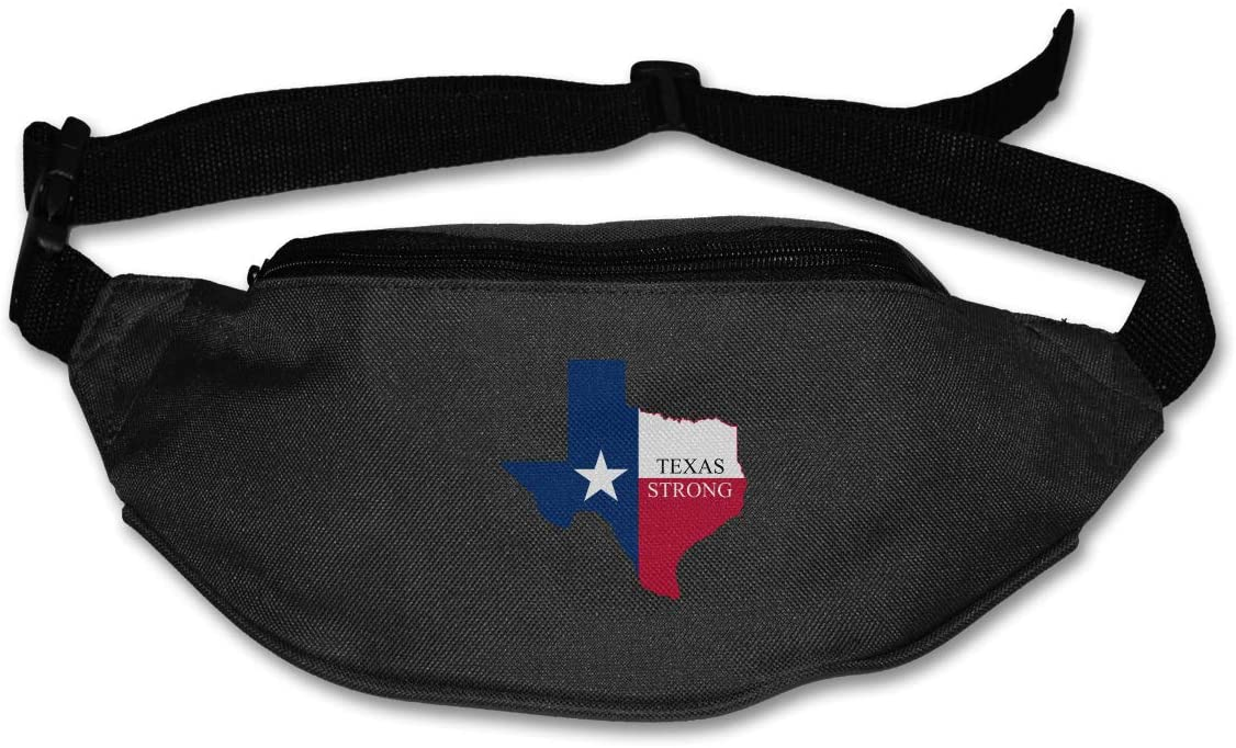 SWEET-YZ Unisex Waist Pack Texas Strong Flat Fanny Bag Pack for Sport Running