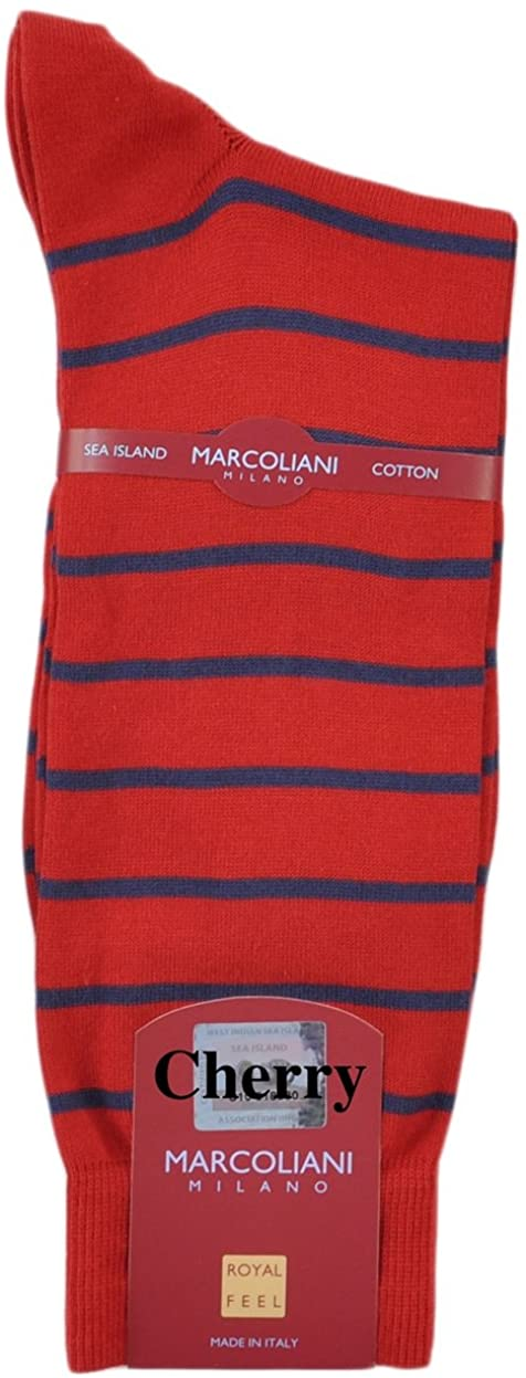 One Pair Certified Sea Island Mid-Calf Socks from Italy