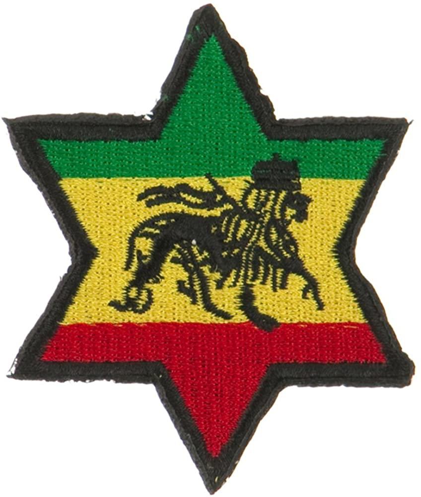 Rasta Flag Patch-Star Lion OSFM