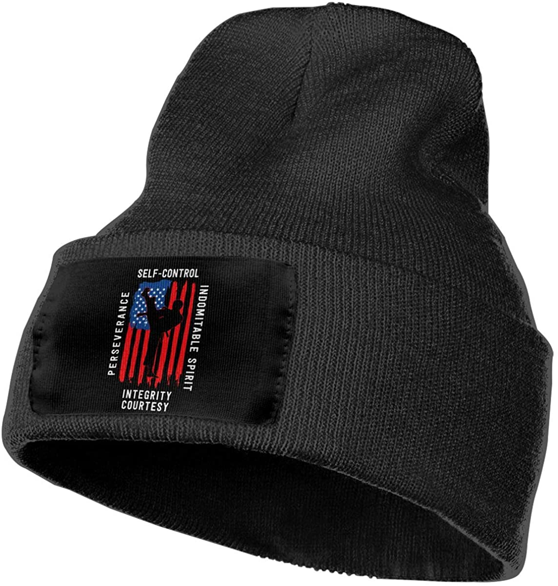 SOURCE POINT Unisex Beanie Hat Taekwondo Us Flag Knit Hat Cap Skull Cap