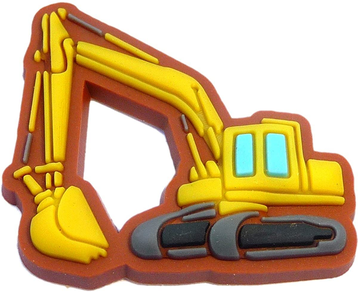 Backhoe Tractor Truck Shoe Charm for Wristbands and Shoes