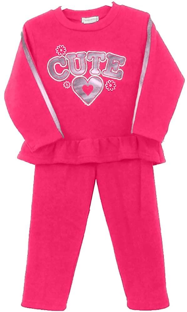 Limit 33 Little Girls Two Piece Fleece Pant Set Sweatsuit Tracksuit