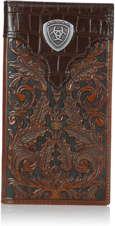 Ariat Men's Oak Embossed Rodeo Wallet