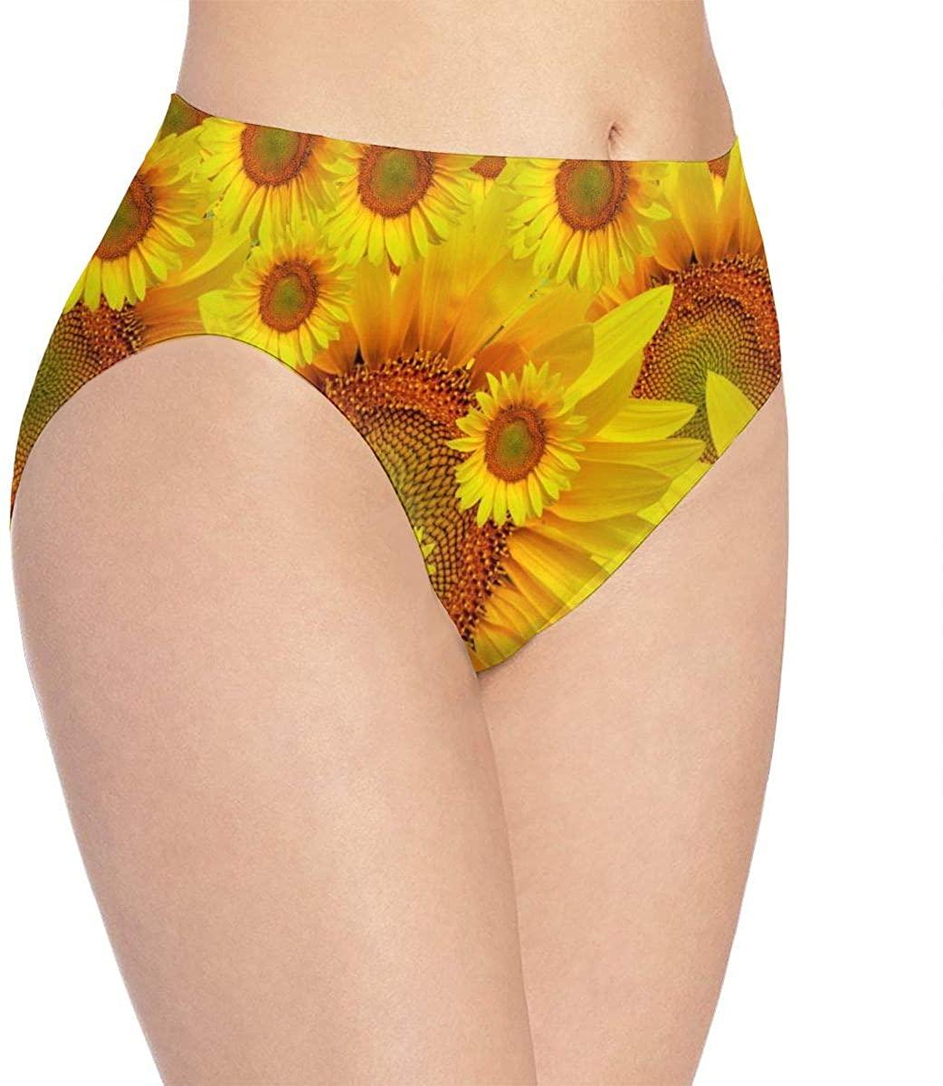 Womens Underwear Beautiful Landscape Sunshine Flower Floral Trendy Bikini Brief Hipster Panties Panty Ladies