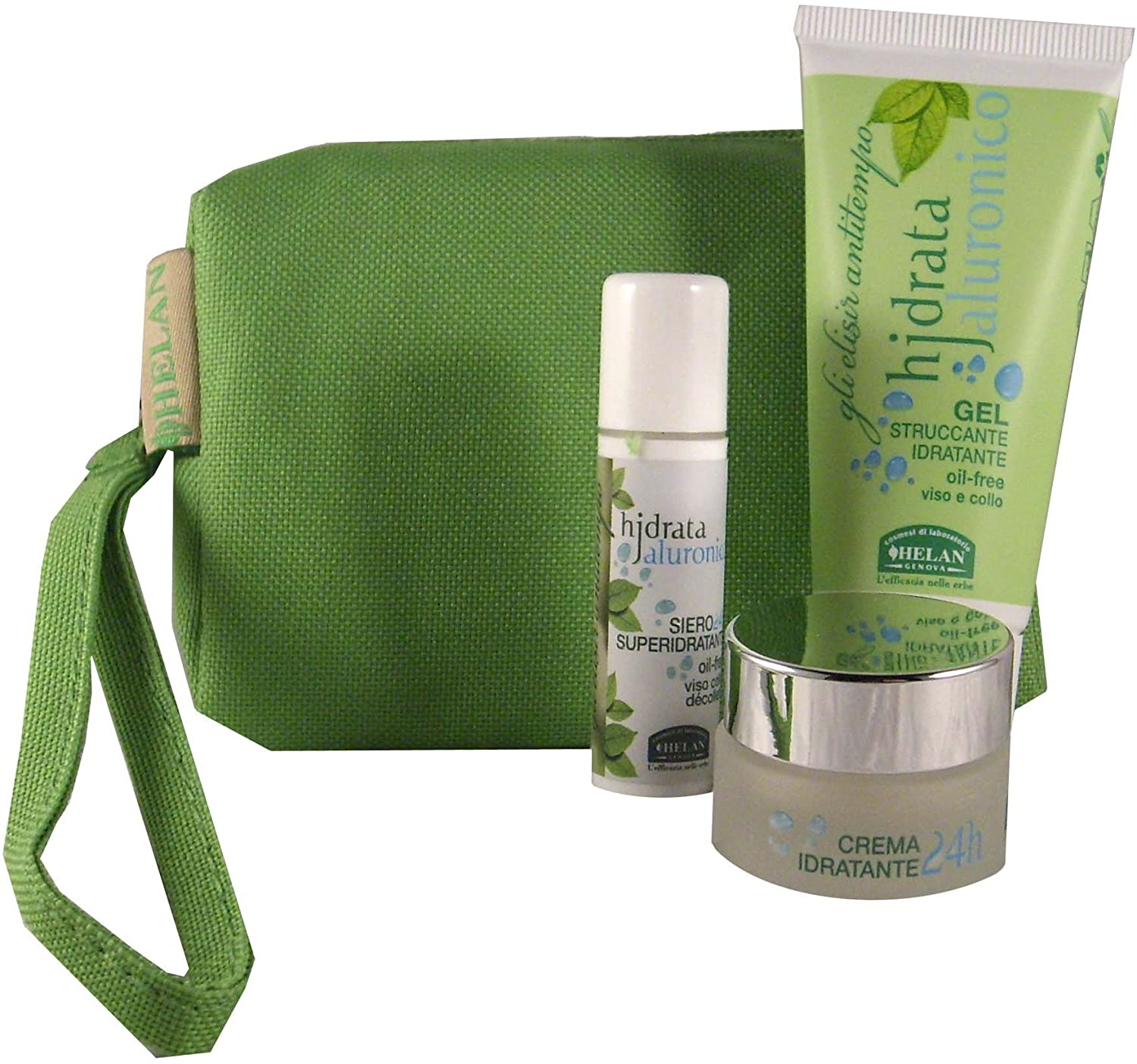Helan Naturals Hydrata 24H for Dehydrated and Aging Skin Travel Kit with Cleanser, Serum and Hyaluronic and Glycosaminoglycan Anti-aging Cream