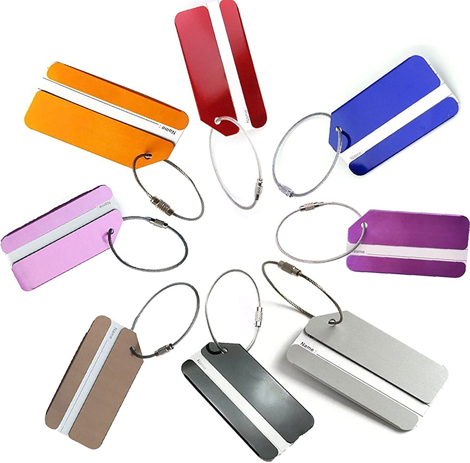 NDHT Aluminum Travel Luggage Tags Baggage Tags Suitcase ID Lables