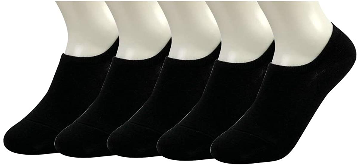 No Show Socks Low Cut Anti-Slip Socks Cotton Grip Liner Socks for Flat Invisible Ankle Sock Summer, 5 Pairs