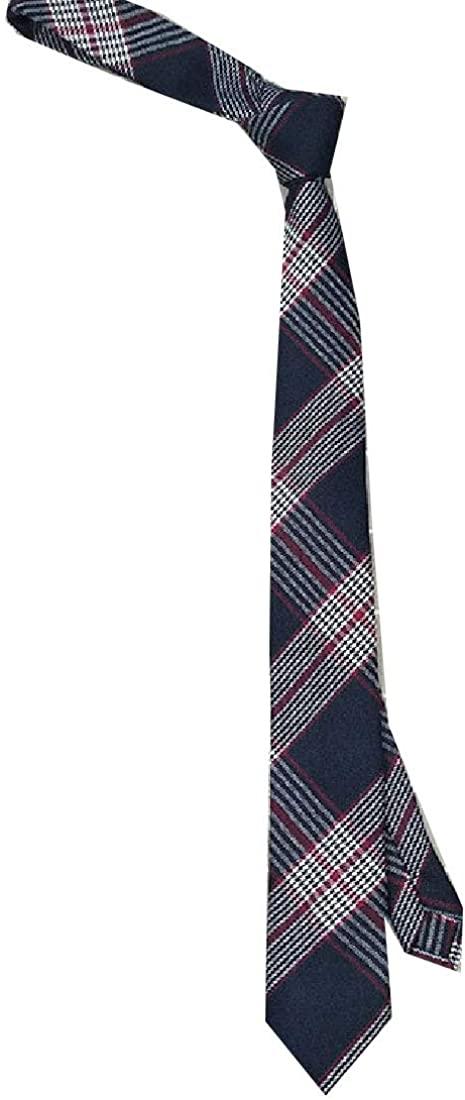 Losait Mens Business Basic Cotton More Choice Formal Plaid Elegant Necktie Tie