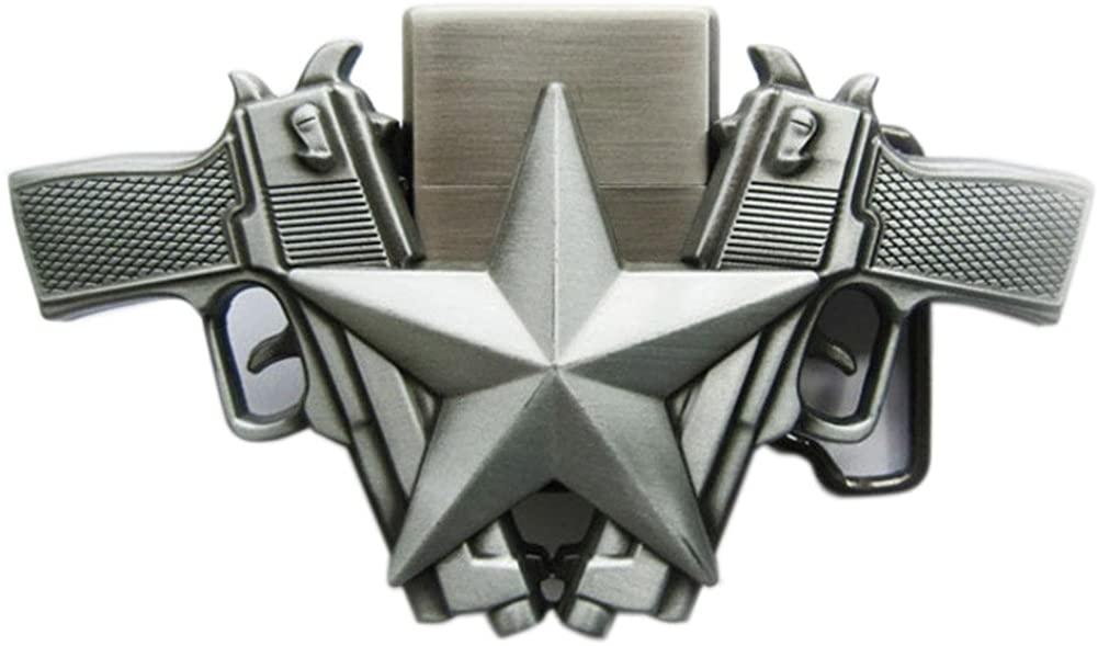 New Vintage Guns Star Belt Buckle also Stock in US