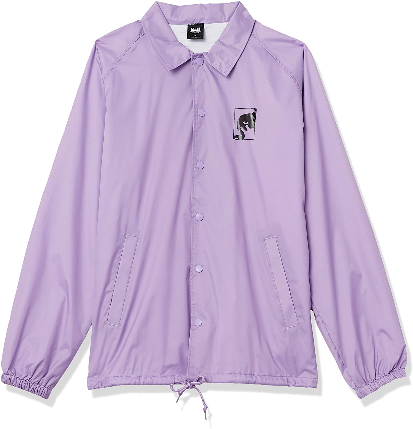 Obey Men's Wake Up Consume Repeat Classic Coaches Jacket, Lavender, Medium