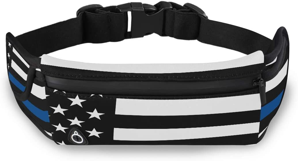 American Flag Symbolic Support Law Enforcement Fanny Packs For Women Fashion Fanny Pack Fashion Bags With Adjustable Strap For Workout Traveling Running