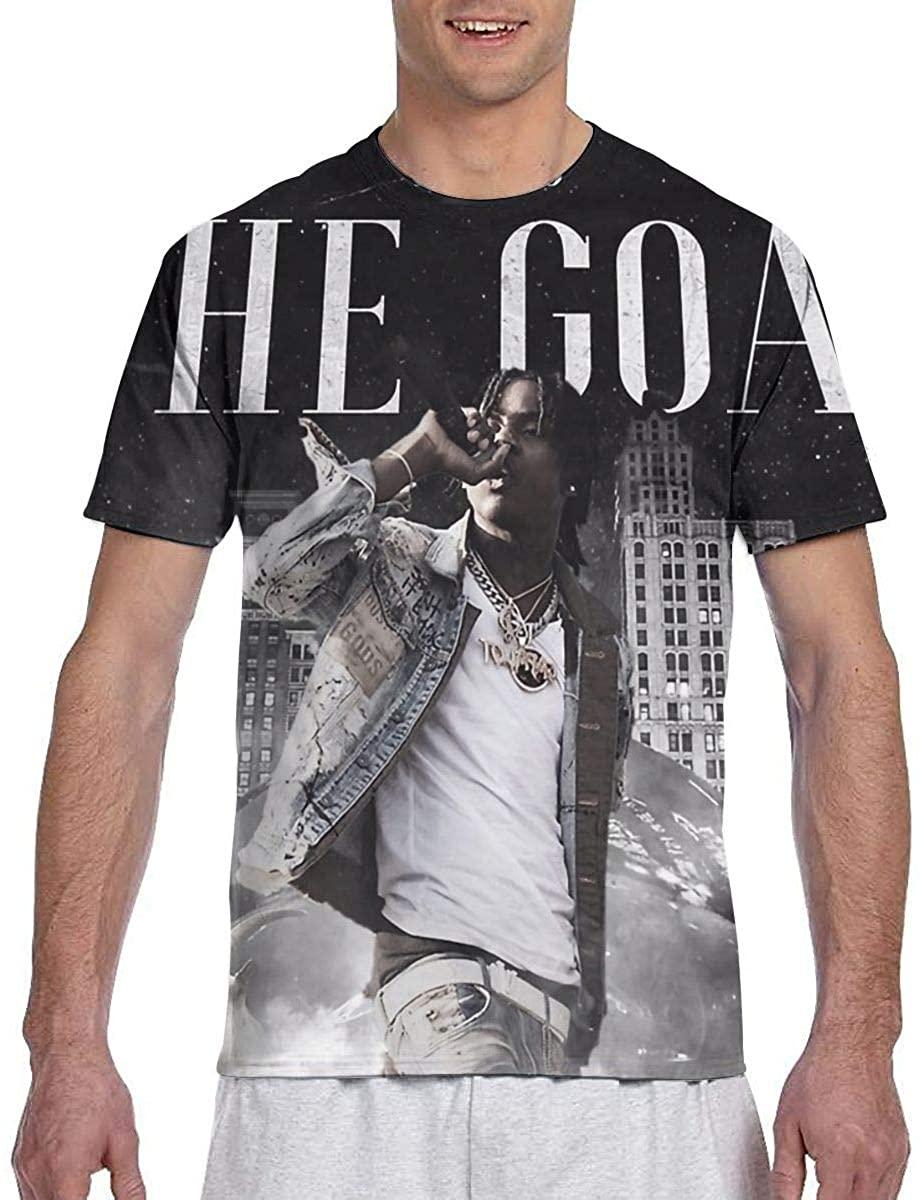 Polo G T Shirt Men's 3D-Print Custom Stylish Black Short Sleeve Tee