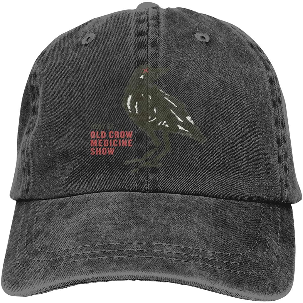 AP.Room Old Crow Medicine Show Men's Women's Baseball Cap Adult Cowboy Hat Adjustable Athletic Hat