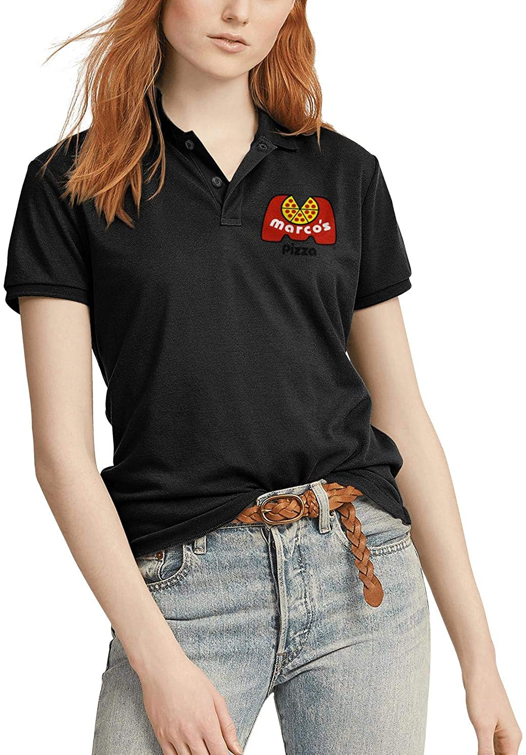 XIANGXIXI0 Black Woman Polo Shirt Fatburger_Logo.- Moisture Wicking 100% Cotton Fashion T Shirts