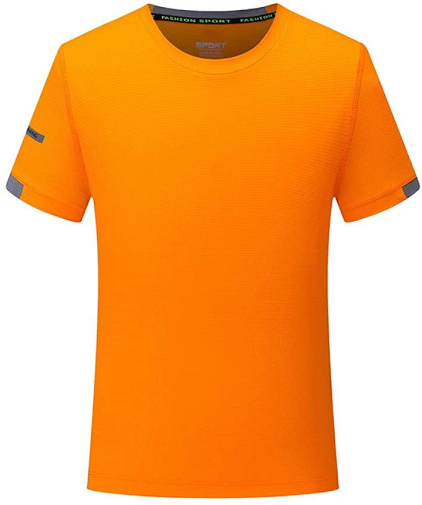 HOSD Summer Quick-Drying t-Shirt Work Clothes Short-Sleeved t-Shirt Advertising Shirt Orange