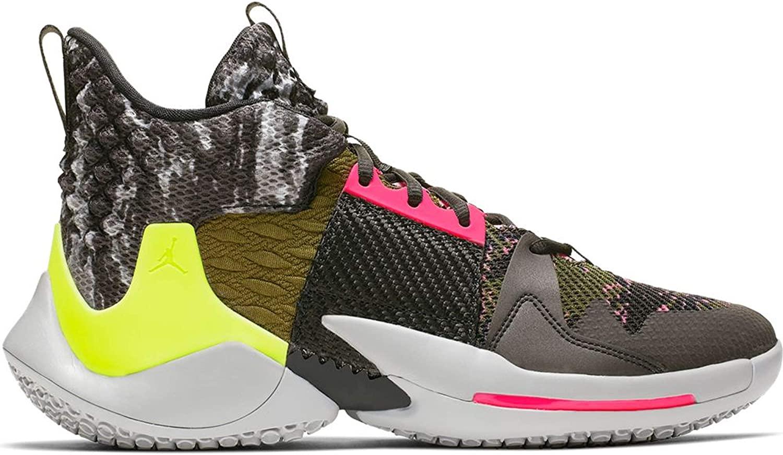 NIke Men's Jordan Why Not Zero.2 Basketball Shoes (Light Smoke Grey/Black/Cyber, 10.5)