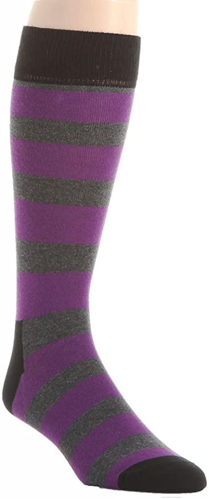 Happy Socks Men's 1 Pacl Unisex Combed Cotton Crew - Stripe 2 Color