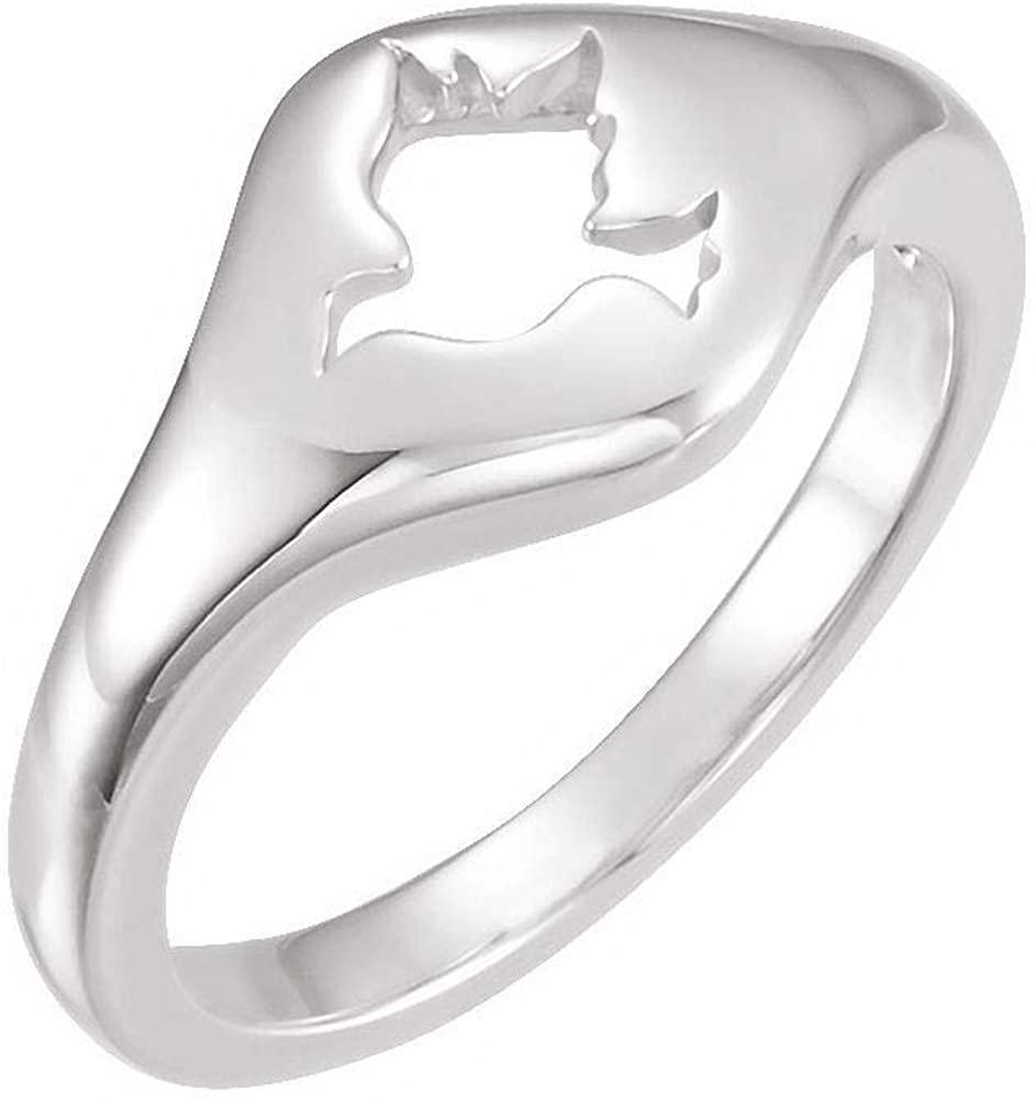 DiamondJewelryNY Religious Rings, Dove Ring