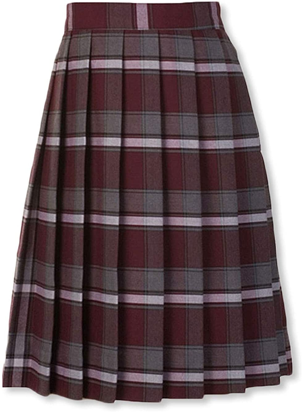Cookie's Big Girls' Pleated Skirt - Burgundy/Gray/whiteplaid #91, 16