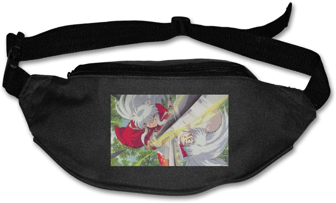 TeriDDeas Inuyasha Vs Sesshomaru Unisex Best Combo Fanny Pack Waist Bag Phone Holder Adjustable Running Belt for Cycling,Hiking,Gym