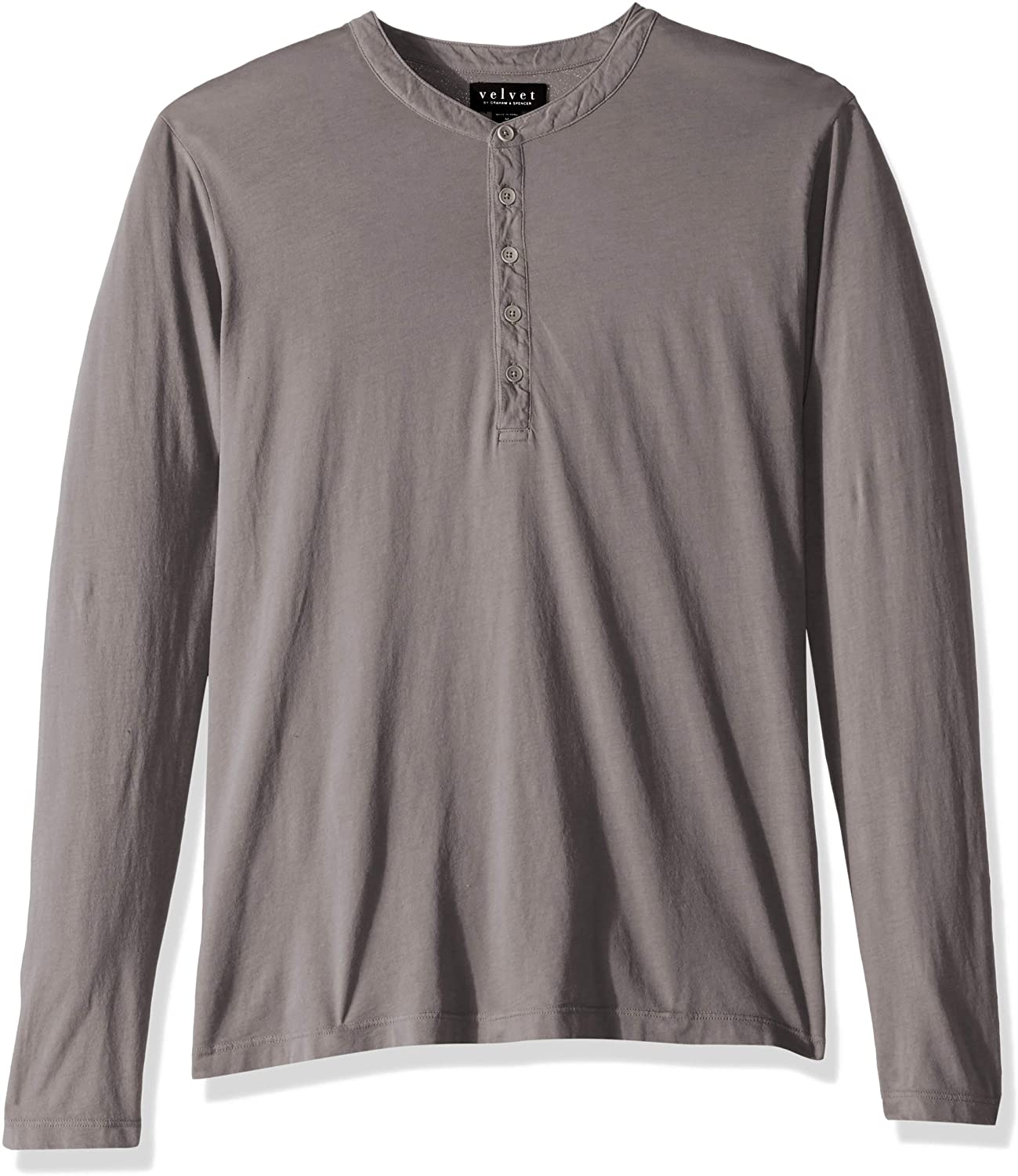 Velvet by Graham & Spencer Men's Alvaro Ls Cotton Henley